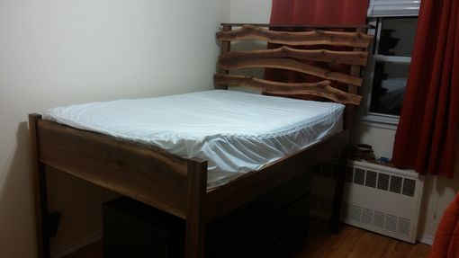 Custom Made Rustic Walnut Bed.