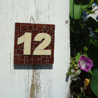 Custom Made Custom Mosaic House Number