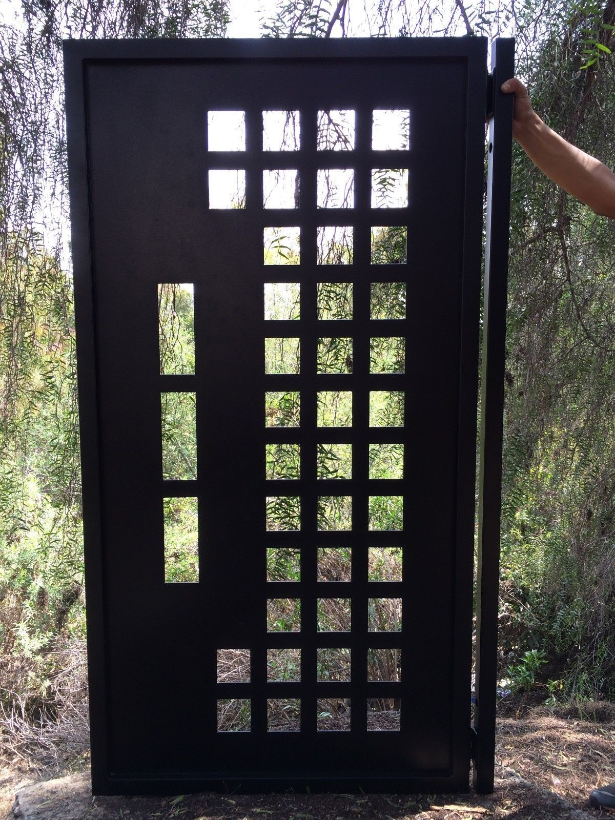 Buy A Hand Made Metal Gate Contemporary Modern Custom Iron