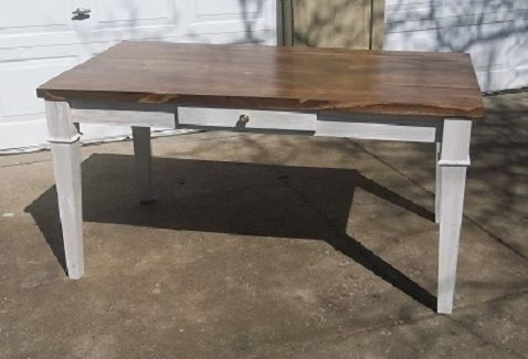 Custom Made Rustic Shaker Style Farm Table