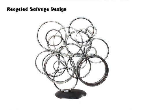Custom Made Recycled Metal Garden Yard Sculpture Art Interior Design