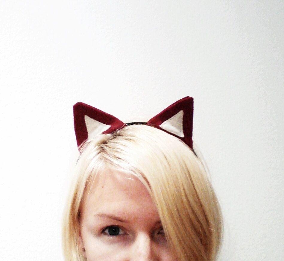 Custom Made Red Fox Ears Headband 5cc14ff68f5