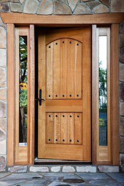 Custom Made Rustic Country Entry Door