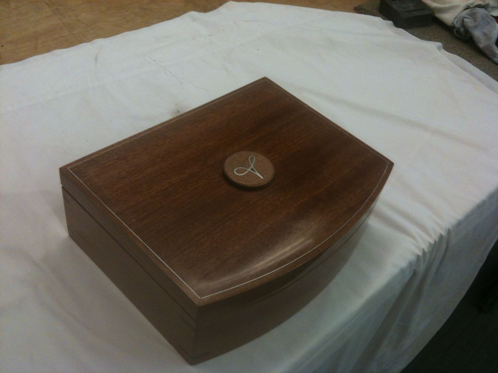 Hand Made Jewelery Box Of Sapele With Secret Magnetic Lock
