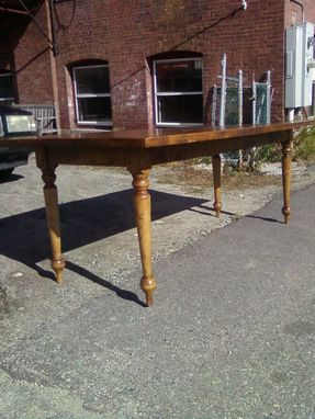Custom Made Handplaned Vermont Farm Table