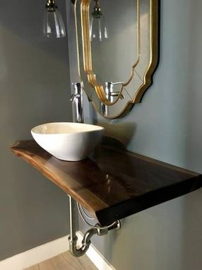 Custom Made Live Edge Bathroom Counter