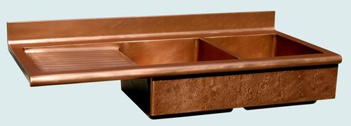 Custom Made Copper Sink With Drainboard & Splash