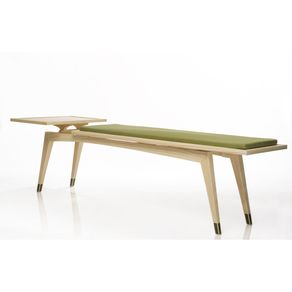 Addison Bench Mid Century Modern And Side Table By Domenic Fiorello