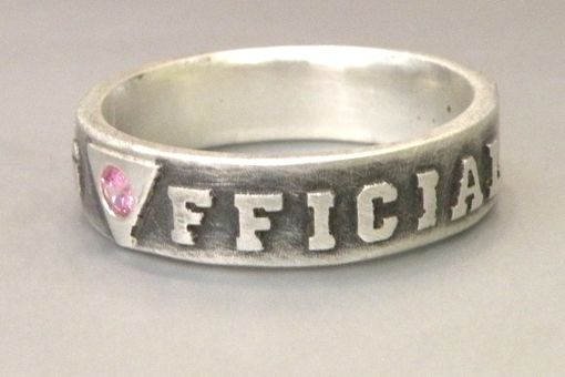 "Custom Made ""It's Official"" Gay Wedding Band"