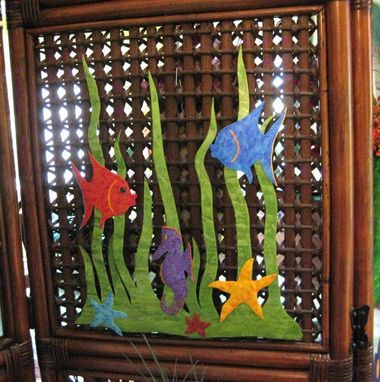 Custom Made Handmade Upcycled Metal Sea Garden Wall Art Sculpture