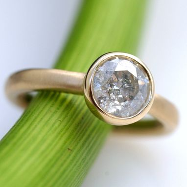 Custom Made 1.21 Carat White Diamond Solitare Ring