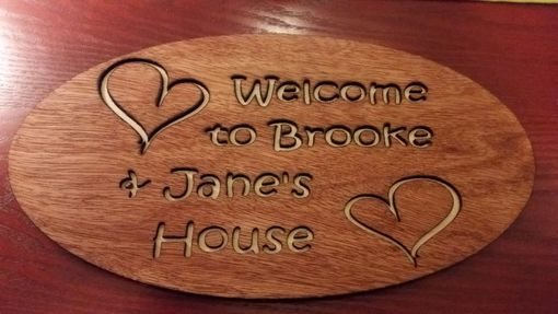 Custom Made Laser Cut Wood Small Sign
