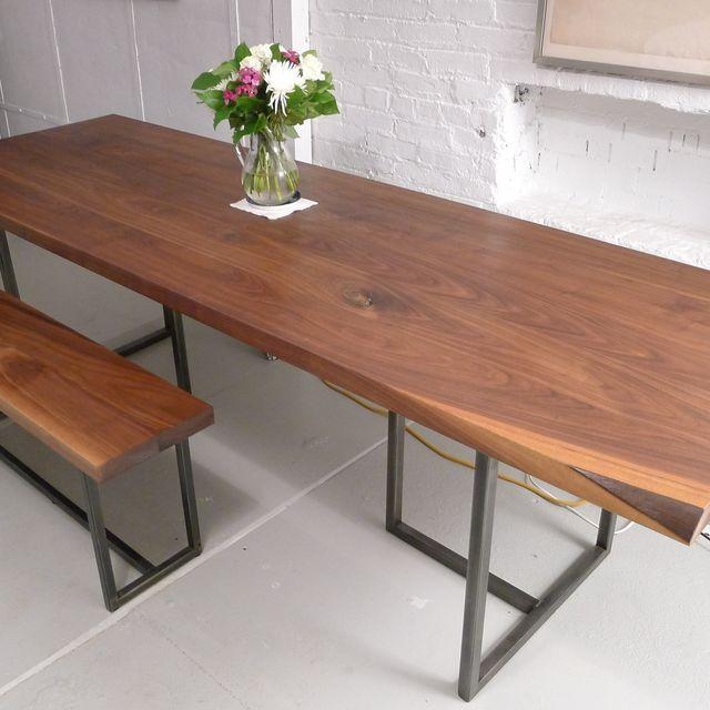 . Handmade Walnut Dining Table by Harvest Home Steel   CustomMade com