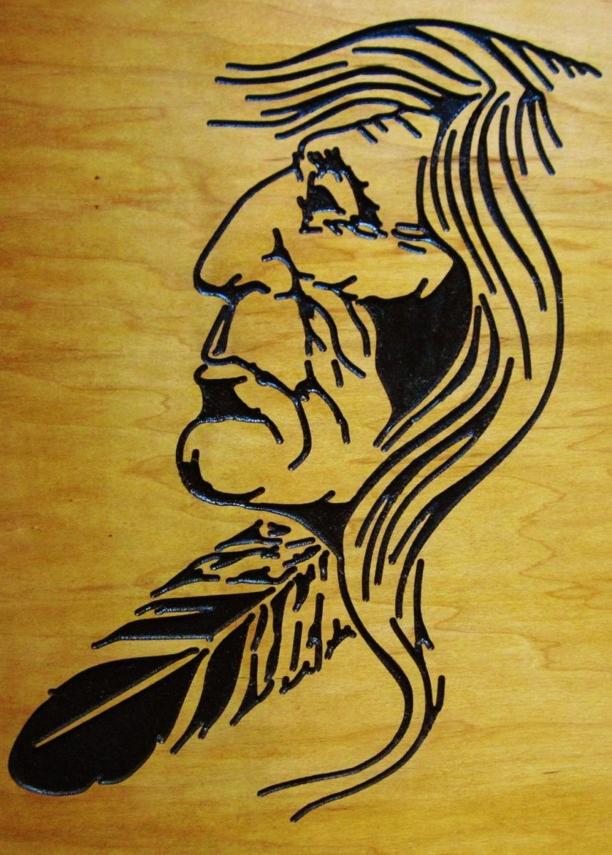 Custom Native American Indian Handmade Wood Carving Wall Art by ...