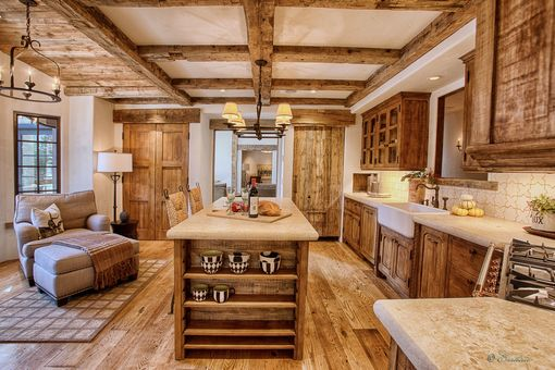 Custom Made Sugar Pine Kitchen Cabinetry