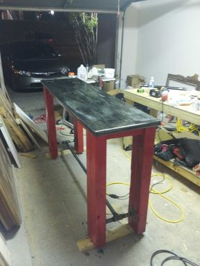 Custom Made Zinc Top Bar Table
