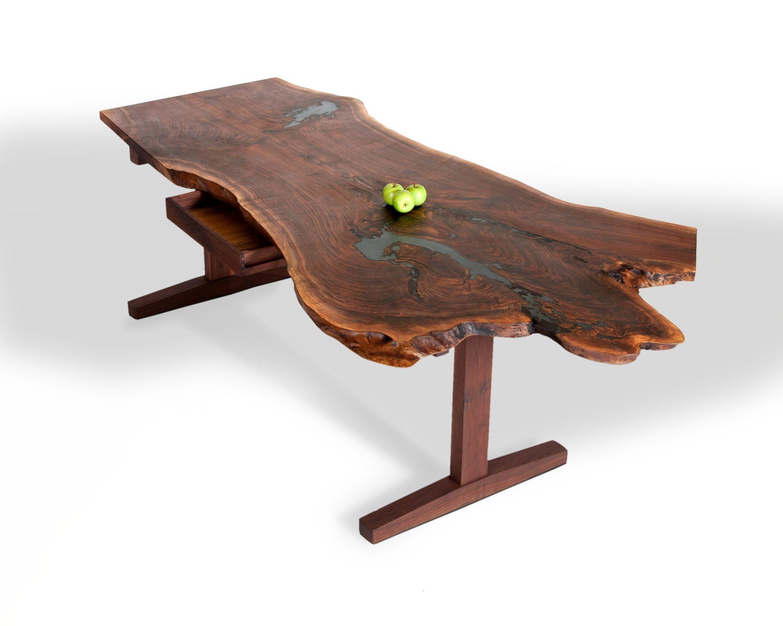 Custom Made Slab Desks By David Stine Woodworking