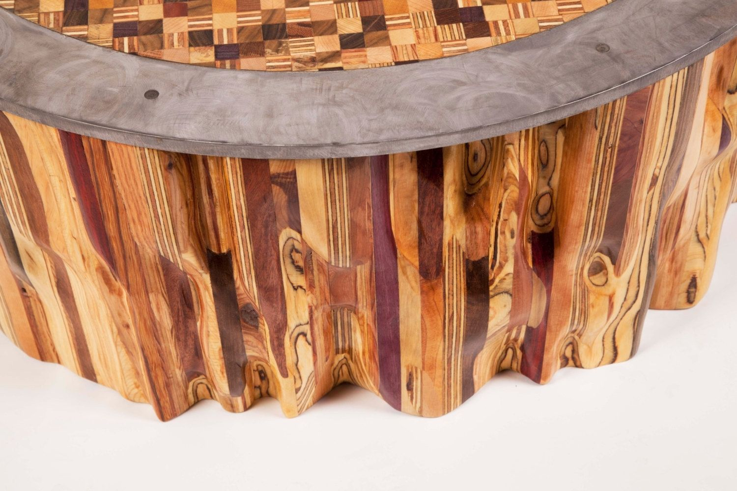 Hand Made Mixed Wood Mosaic End Grain Top Coffee Table By Fast Industries Llc Custommade