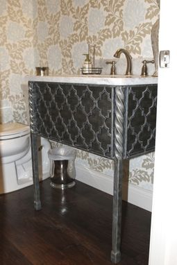 Custom Made Metal Vanity Base (Victoria)