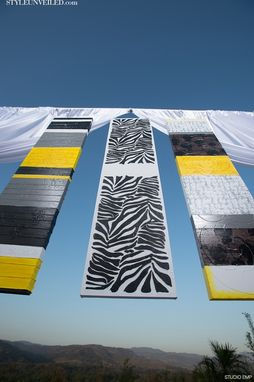Custom Made 'Zebra, Yellow & Black Artwork & Event Decor' - Multiple Sized Paintings On Canvas