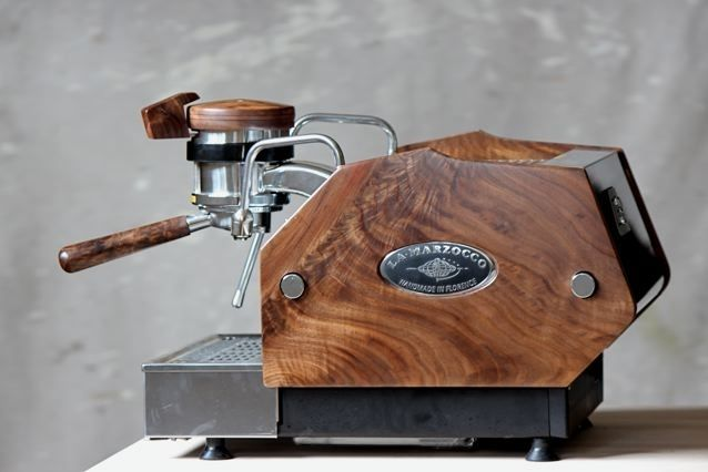 Hand Crafted Custom Wood Panels For La Marzocco Gs3
