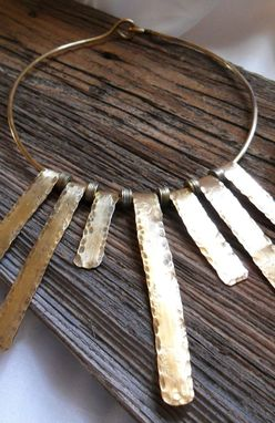Custom Made Solid Brass Statement Necklace And Ear Cuffs Set