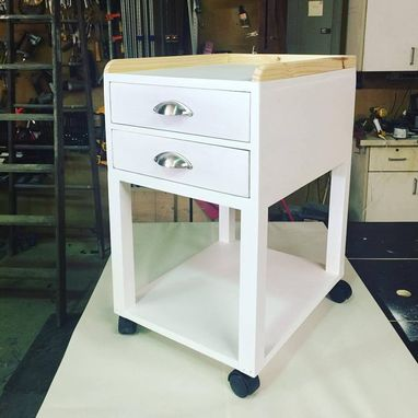 Custom Made Side Table On Casters