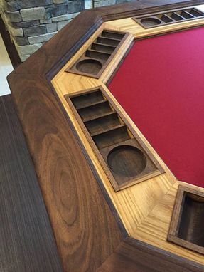 Custom Made Professional 12 Seat Hardwood Poker Table Game Room/Man Cave Centerpiece!