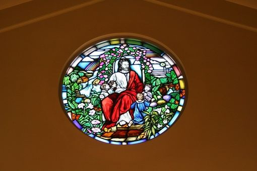 Custom Made Stained Glass Window – Religious