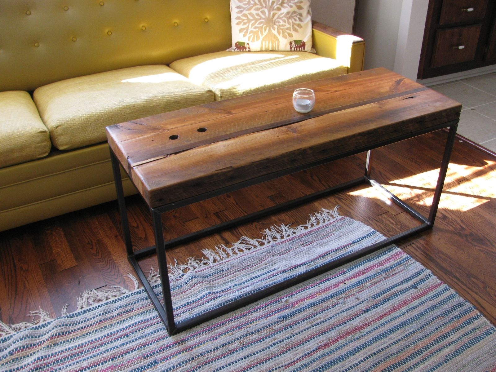Custom Reclaimed Pine Cube Coffee Table by Five Fork Studio