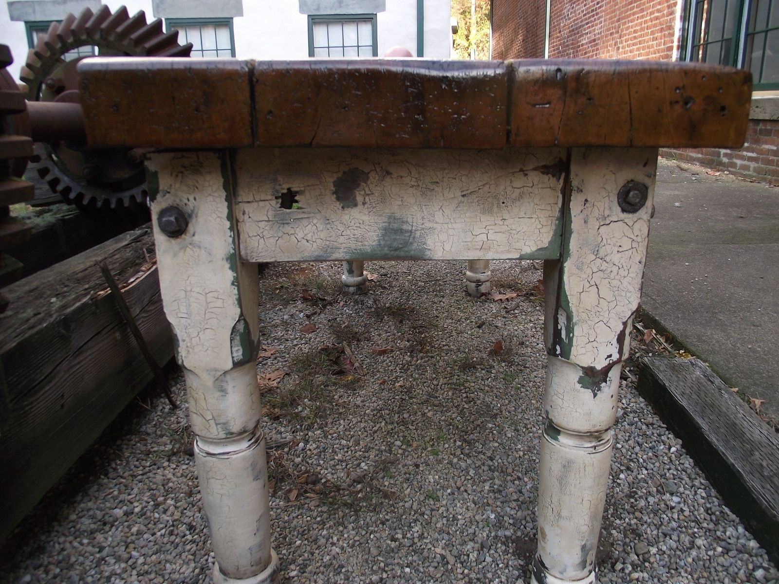 Custom Made Authentic Farm Style Table Rare Find Over 3