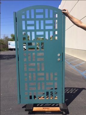 Custom Made Modern Urban Designed Metal Gate Steel Garden Walk Thru Pedestrian