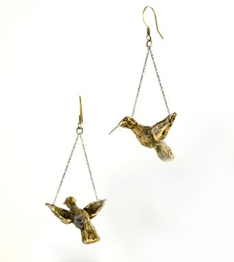 Custom Made Hummingbird Earrings