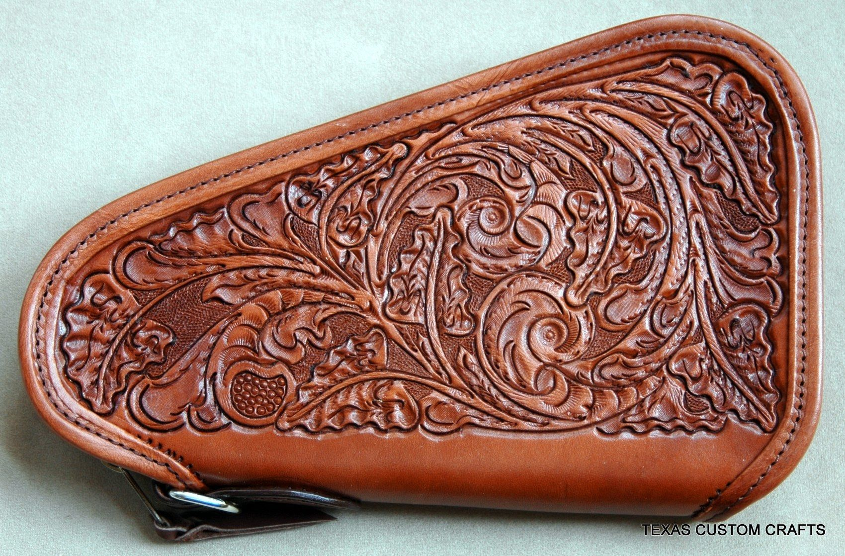 Custom Made Leather Gun Pistol Case By Texas Custom