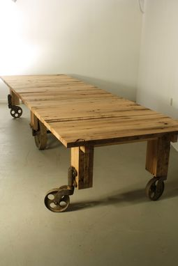 Custom Made Industrial Cart Dining Table