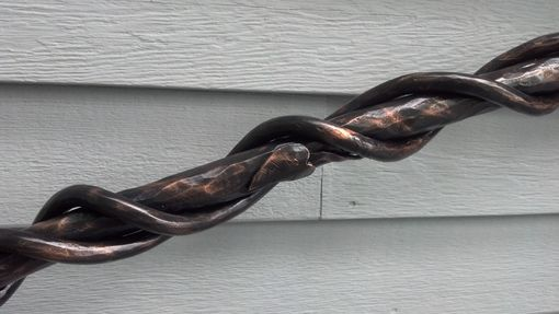 Custom Made Forged Vine Hand Rail