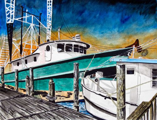 Custom Made Boat Paintings