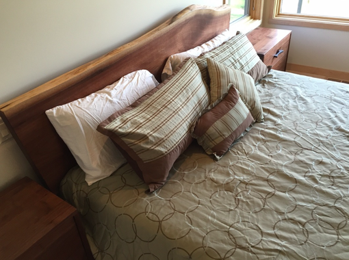 Custom Made Live Edge Walnut Platform Bed