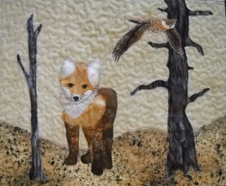Custom Made Quilted Wall Art Woodland Wildlife