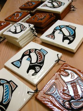 Custom Made Custom Ceramic Tiles For A Gift Shop
