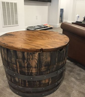 Custom Made Wine Barrel End Table