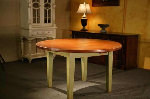 Custom Made Round Harvest Style Kitchen Dining Table