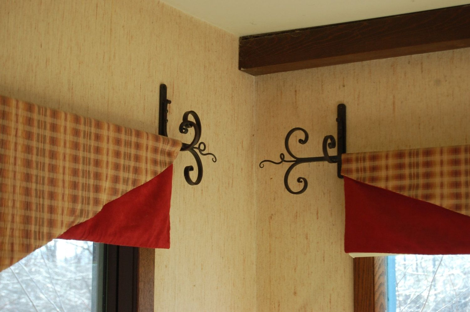 Handmade Hand Forged Curtain Rods Brackets By Milwaukee