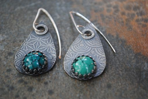 Custom Made Sterling Silver Teardrop Earrings