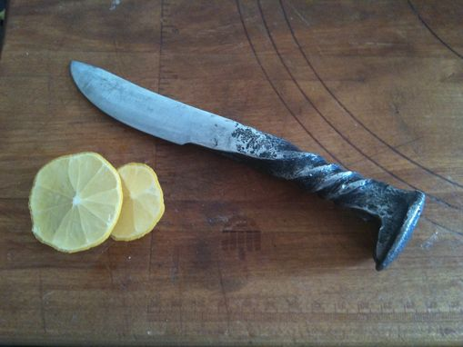 Custom Made Hand Forged Rail Road Spike Knife