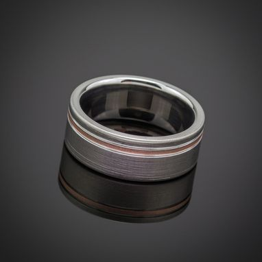Custom Made Titanium Rose Gold Wedding Ring Comfort Fit Interior