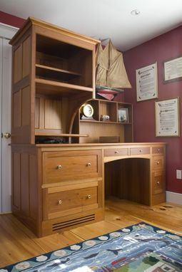 Custom Made Nantucket Desk And Shelving