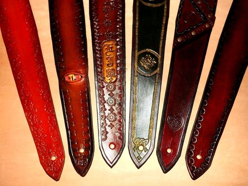 Custom Made Handcrafted Leather Guitar Straps