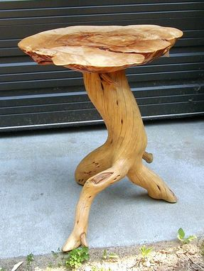 Custom Made Juniper Base With Yellow Birch Top
