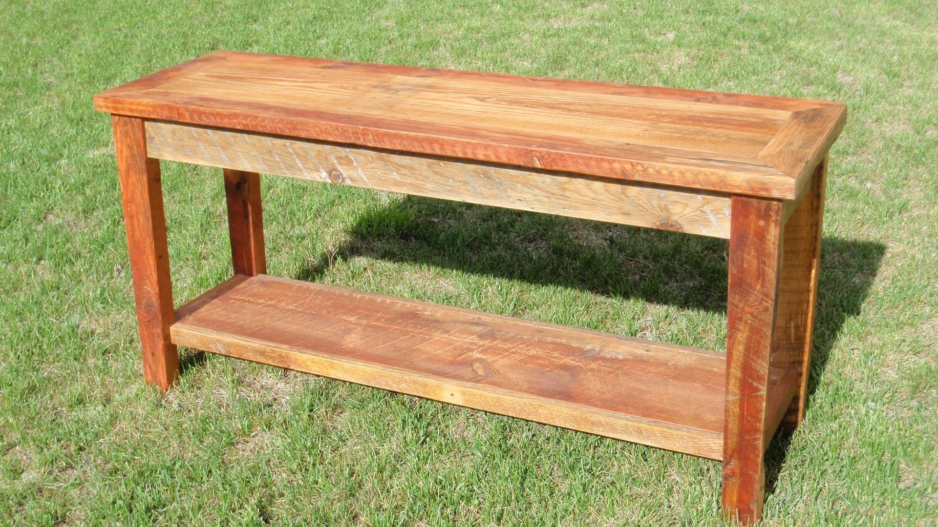 Barnwood sofa table barnwood sofa table ng471 sisters log Furniture made from barn wood